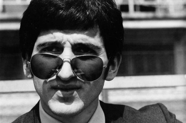 Luigi Meroni With A Pair Of Sunglasses