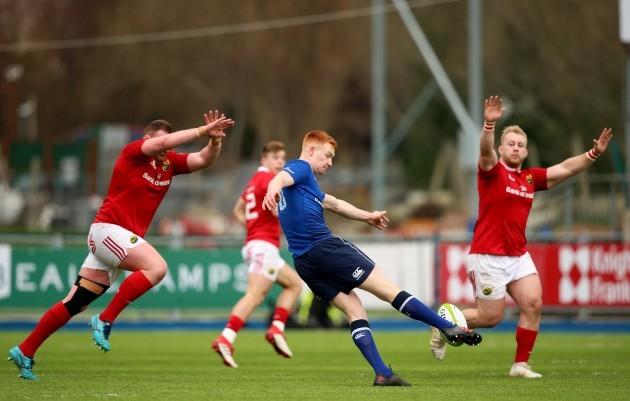 Ciaran Frawley kicks the ball