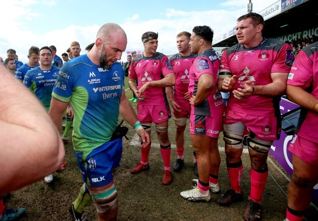 John Muldoon and is clapped off the pitch