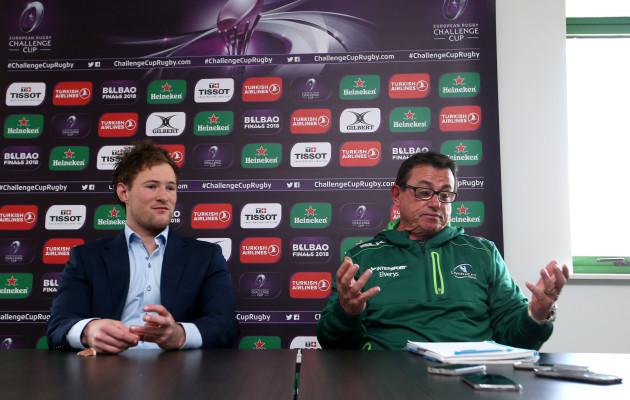 Kieran Marmion and Kieran Keane during the post match press conference