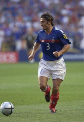 BT Sport. Football. UEFA European Championships. Euro 2004. Estadio Da Luz, Lisbon. 13th June 2004. France 2 v England 1. Bixente Lizarazu of France.