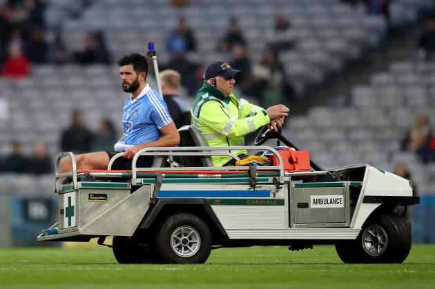 Cian O'Sullivan goes off injured