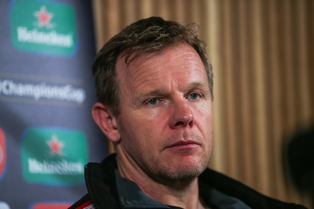 Mark McCall during the post match press conference