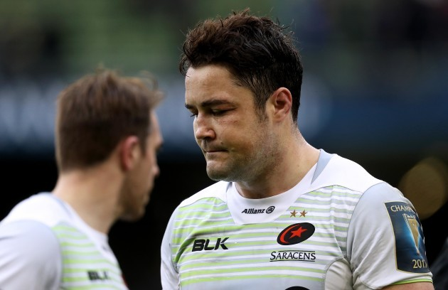 Brad Barritt dejected