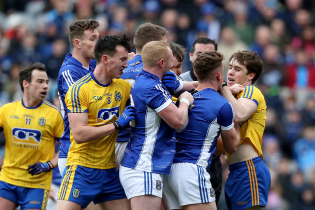 Tempers flair between Roscommon and Cavan players
