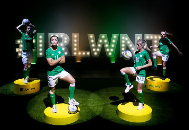 Karren Duggan, Katie McCabe, Denise O'Sullivan, and Leanne Kiernan