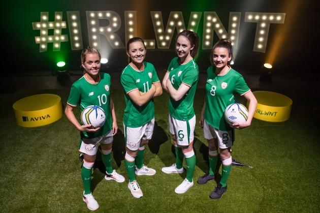 Denise O'Sullivan, Katie McCabe, Karren Duggan and Leanne Kiernan