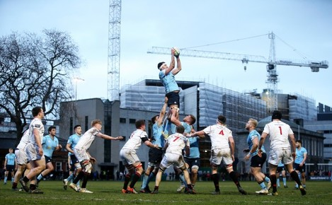 Keelan McKenna claims a line out