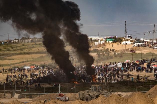 ISRAEL-GAZA-BORDER-NAHAL OZ-CLASHES