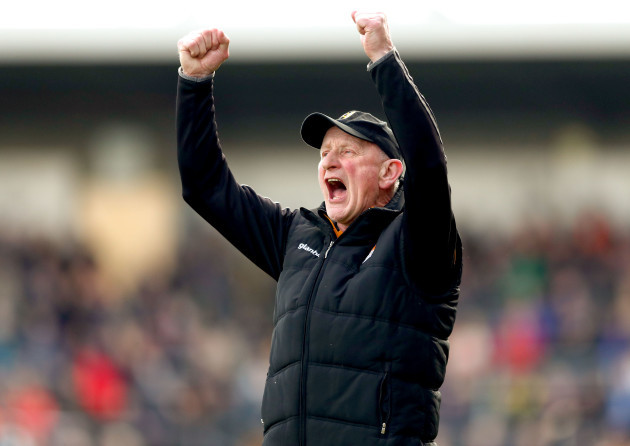 Brian Cody celebrates after his side scored there second goal