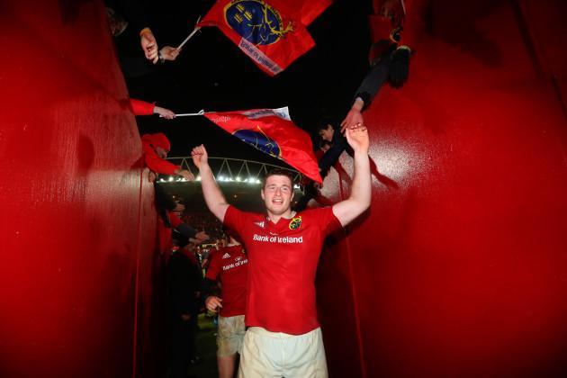 John Madigan celebrates