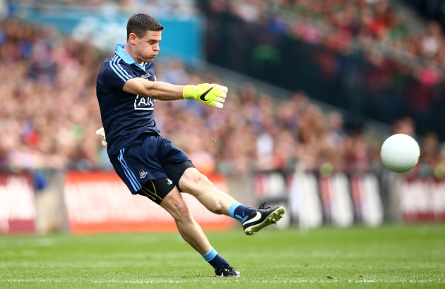 Stephen Cluxton takes a free kick