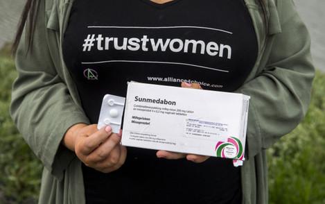 Abortion pill stunt
