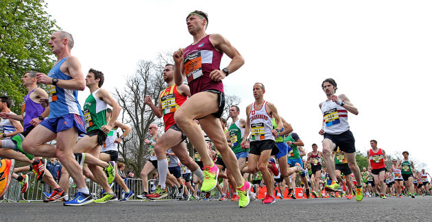 A view of the 10km race