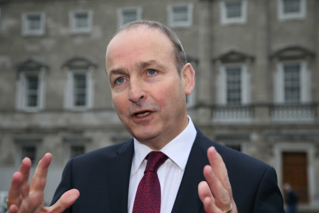 File Photo Micheal Martin says he will vote for this change the 8th Ammendment. End.