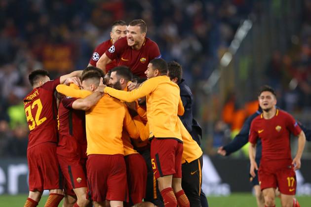 Italy: AS Roma v FC Barcelona - UEFA Champions League Quarter Final Second Leg