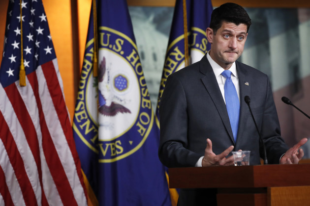 In a blow to Republicans, House Speaker Paul Ryan says he's