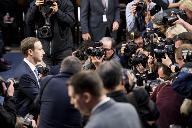 Facebook CEO Mark Zuckerberg Hearing