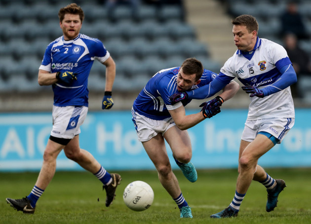 Mossy Quinn raised two green flags in the first half for St Vincent's in Parnell Park.