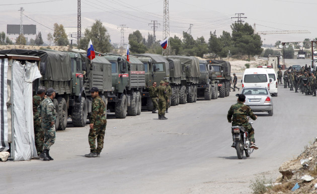 SYRIA-DAMASCUS-RUSSIAN POLICE