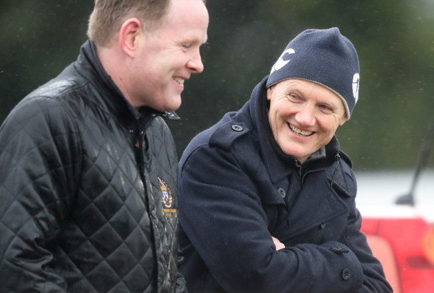 Joe Schmidt attends the game