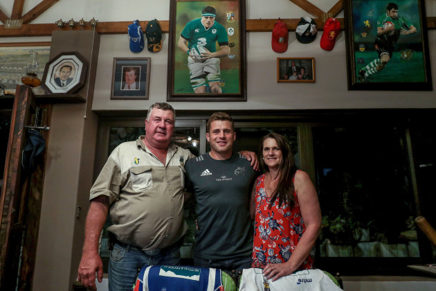 CJ Stander with his parents Jannie and Amanda