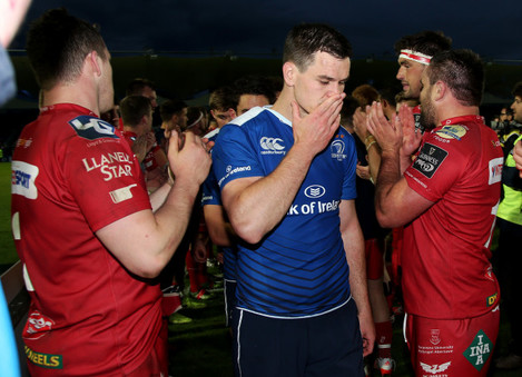 Johnny Sexton dejected after the game