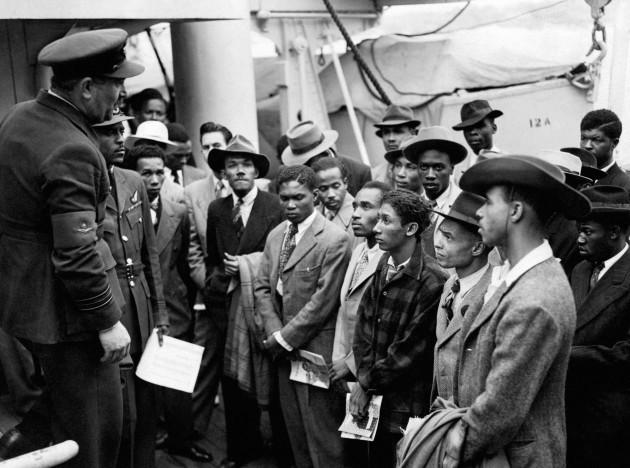 UK Immigration - West Indies - Empire Windrush, Tilbury Docks
