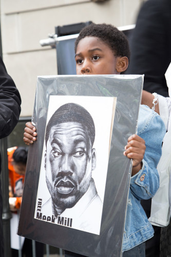 Meek Mill Supporters Protest On Day Of Status Hearing