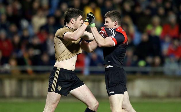 Eoin O'Donoghue and Shane Enright scuffle