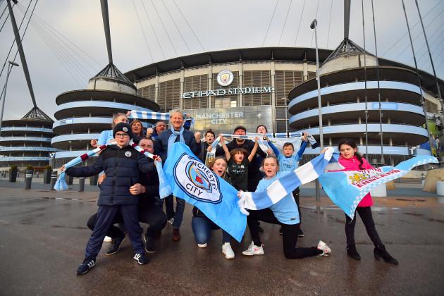 Manchester City fans celebrate Premier League win - Etihad Stadium