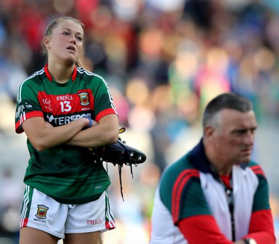 Sarah Rowe dejected