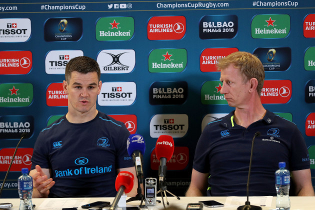 Johnny Sexton and Leo Cullen