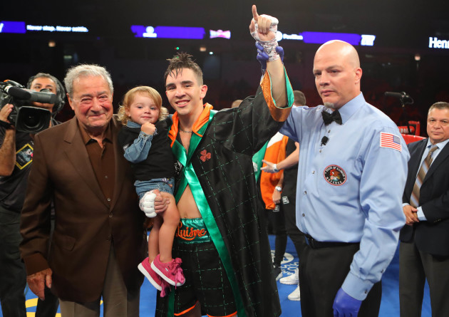 Michael Conlan celebrates his win