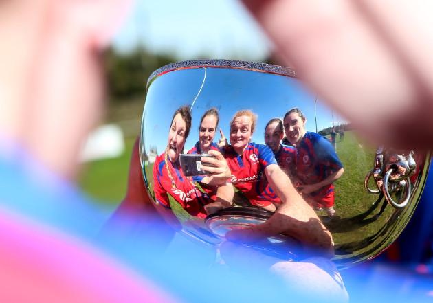 Clodagh O'Halloran Chloe Pearse, Fiona Reidy, Rachel Allen and Anna Caplice celebrate