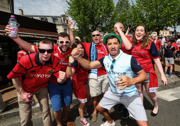 Munster and Racing fans ahead of the game