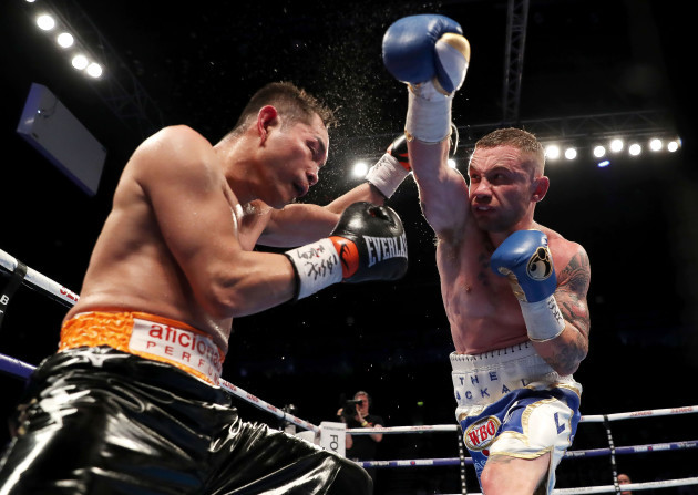 Carl Frampton (right) in action against Nonito Donaire