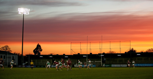 A view of the action at Parnell Park