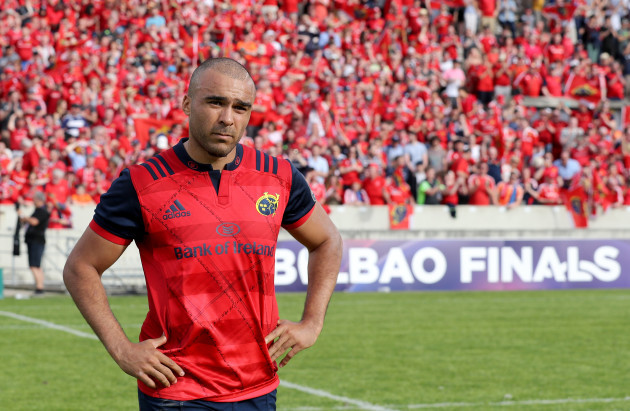 Simon Zebo dejected after the game