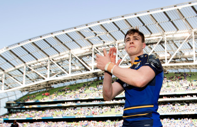 Garry Ringrose celebrates after the game