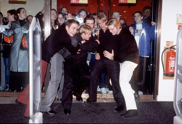 WESTLIFE OPEN THE NEW VIRGIN MEGASTORE AT PICCADILLY CIRCUS IN LONDON