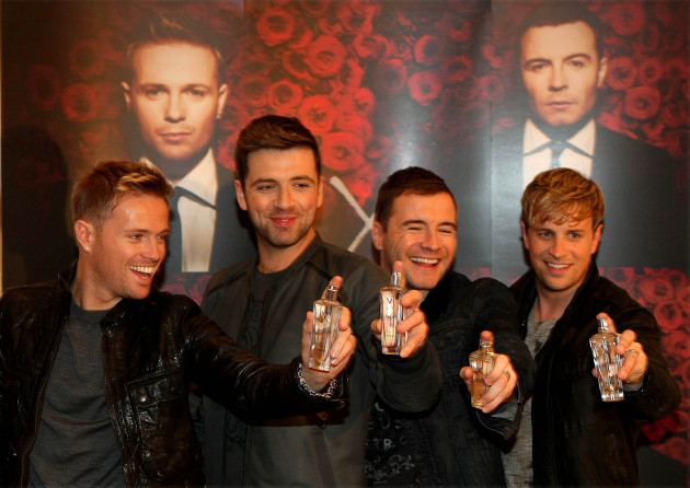 Westlife perfume launch