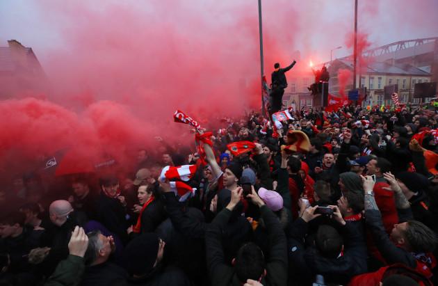Liverpool v AS Roma - UEFA Champions League - Semi Final - First Leg - Anfield