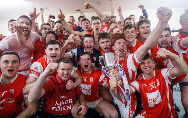 Cuala celebrate after the game