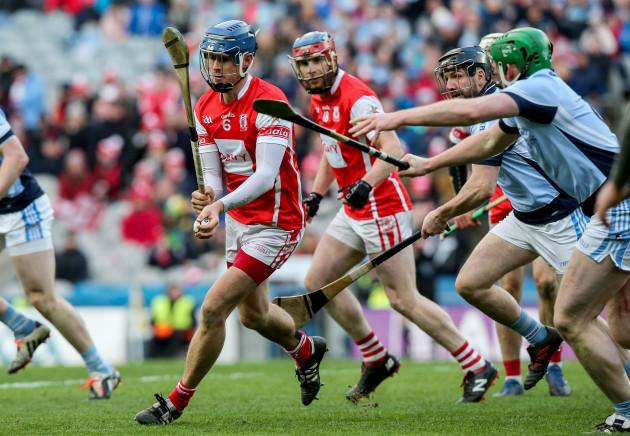 Sean Moran under pressure