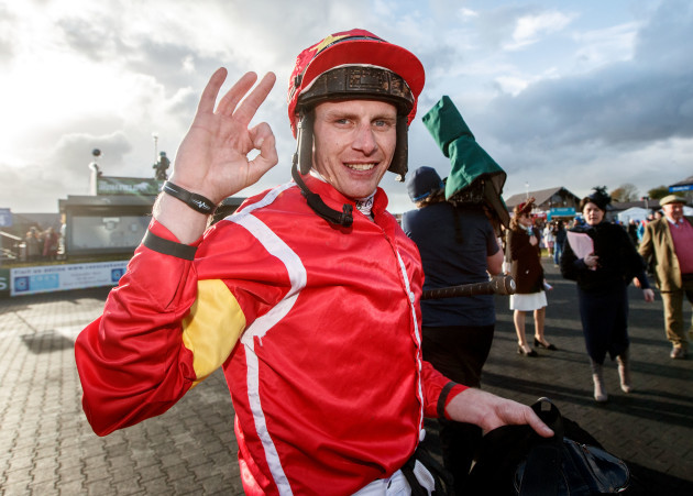 Paul Townend celebrates after he won with Patricks Park