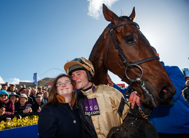 David Mullins and his sister Kimmy celebrate with Bellshill
