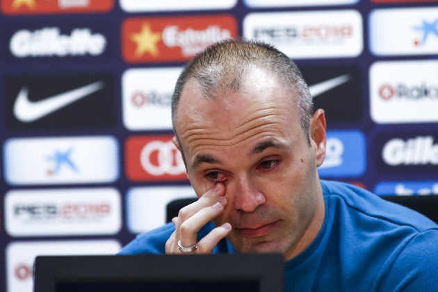 Andres Iniesta departure from FC Barcelona.April 27th