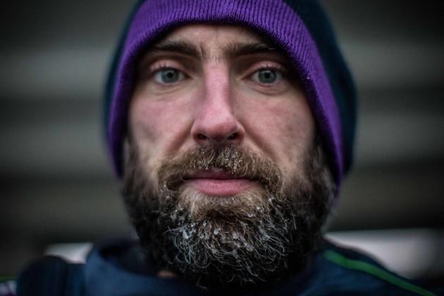 John Muldoon with frost in his beard following training