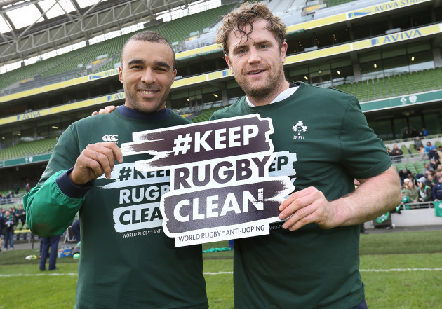 Simon Zebo and Jamie Heaslip launch the Keep Rugby Clean Campaign
